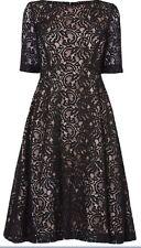 BNWT Phase Eight /8 Louanna Lace Dress - Black/Nude - U.K. 8 - £150!!
