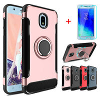 For Samsung Galaxy J3 V 2018 /Orbit /Star /SM-J337A Ring Case + Screen Protector