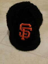 San Francisco Giants Newborn Baby Knit Hat Photo Shoot
