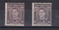 APD351) Australia 1941 3d Brown mint unhinged, with white face