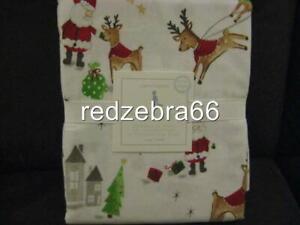 Pottery Barn Kids North Pole Toddler Sheet Set Crib Santa Christmas Flannel 3-pc
