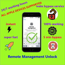 MDM unlock ALL iPhone iPod iPad Remote Management All ios 13.5.1 INSTANT BYPASS