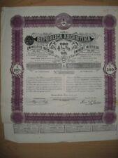 Republica argentina 1911 uncancelled/cupones Gold-Bond