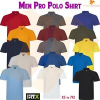PRO RTX Mens Workwear Collared Short Sleeve Casual Polo Uniform Polycotton Top