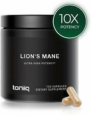 Toniiq LIONS MANE Mushroom Extract 1800mg 120 Caps ULTRA HIGH STRENGTH PREMIUM