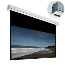 """106"""" Motorized Hd Projector Screen 16:9 Home Theater Cinema Projection w/ Remote"""