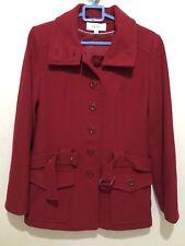 DONNA WOMEN'S NEXT Giacca Cappotto Colore Rosso TG UK 8 EU 36