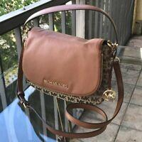 Michael Kors Women Jacquard Leather Crossbody Bag Tote Purse Shoulder Handbag MK
