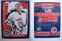 2015 SCA Ty Conklin Columbus Blue Jackets goalie never issued produced #d/10