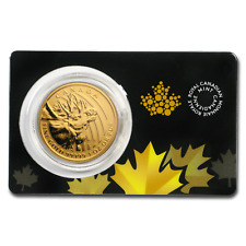 2019 Canada 1 oz Gold Moose .99999 BU (Damaged) - SKU#193016