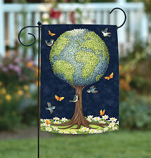 NEW Toland - Earth Tree - Conserve Nature Bird Butterfly Globe Garden Flag