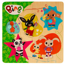 Bing Pick & Place Wooden Puzzle with 5 Character Pieces