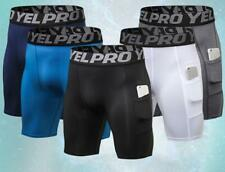Men's Compression Shorts Fitness Workout With Pocket Sports Sweatshorts