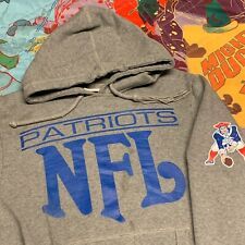 New England Patriots Hooded Sweatshirt Adult M Gray NFL Football Mitchell & Ness