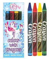 6 Unicorn Wax Crayons - Pinata Toy Loot/Party Bag Fillers Wedding/Kids Pencils