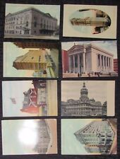 Vintage Mixed LOT of 8 POST CARDS Architectural A VG+ to FN+