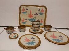 Ohio Art Litho Tea Set Leaves 20 Piece Set