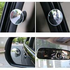 Adjustable Blind Spot Clear Car Rear View Mirror 360° Round Wide Angle Safety US