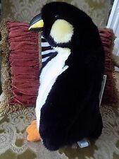 "SKM Large 16"" Emperor Penguin SOFT DELUXE PLUSH Stuffed Lifelike Realistic NWOT"