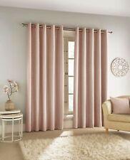 Savoy Luxury Chenille 3 Pass 100% Blackout Eyelet Curtains Blush Pink