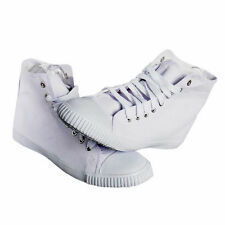 HIGH TOP LACE UP CANVAS PLIMSOLES HI PLIMSOLLS PUMPS BRAND NEW MENS WOMENS