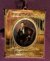 1999 White House Christmas Ornament President Abraham Lincoln Portrait Frame