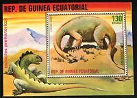 Equatorial Guinea #MiBl304 MNH S/S CVEUR7.50 Dinosaurs