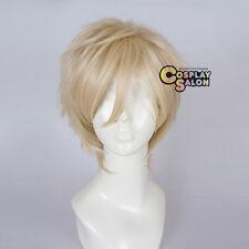 Anime Vampire Knight Aidou Hanabusa Short Light Blonde Layered Men Cosplay Wig