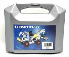 Construction Set 144pc Metal Building Toy in Plastic Case Constructorz New