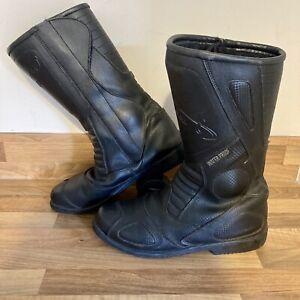 Spada Motorcycle Boots Black Leather UK Size 7