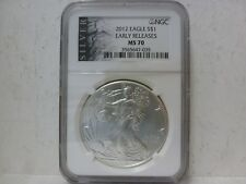 2012 Silver American Eagle Coin MS-70 NGC - Early Releases