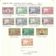 New Hebrides Stamp Collection George V-VI inc 2f Gold. SG Cat: £90+