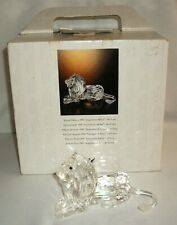 "1995 Swarovski Crystal Figurine The Lion Inspiration Africa 5"" Long"