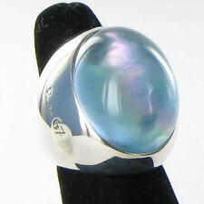 Pomellato Pinctada Maxima Green Tinted Agate 925 Silver  Ring Sz 6 52 New $870