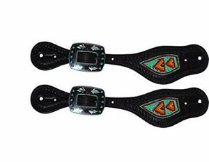 Spur Straps - Professional Choice Beaded Collection (Turquoise/Red)