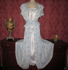 Vtg Bias Rayon Silk Nightgown Gown Peignoir Robe Set !930's Bridal Lingerie M 36