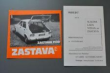 Dutch Netherlands Sales Brochure & Price List Zastava Volga Lada Scaldia