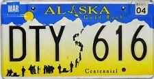 Alaska License Plate,  Original Kennzeichen  USA  DTY 616  ORIGINALBILD