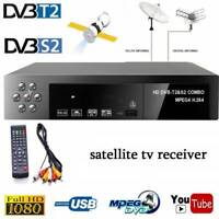DVB-T2+DVB-S2 FTA 1080P Tuner Smart Digital Satellite TV Receiver Set-top Box./