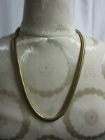 """Vintage 80's Beautiful Large Chunky Statement Necklace Serpentine Gold Tone 22"""""""