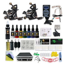 Pro Complete Compass Tattoo Machine Kit 2 Magellan Gun Inks Power Supply Set