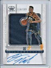 2017-18 Crown Royale Rookie Jersey Silhouettes Donovan Mitchell RC AUTO 118/199