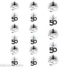 Bilanciere nero e argento 50º COMPLEANNO PARTY a cascata Colonna