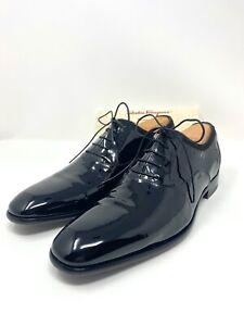 Salvatore Ferragamo Men's Oxfords Black Patent Leather Size US 9.5