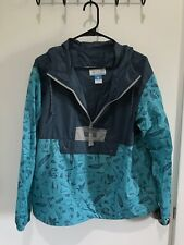 COLUMBIA WOMEN's NYLON WINDBREAKER PULLOVER JACKET LARGE L COLOR Blue