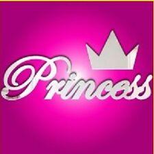 INFRANGIBILE parola PRINCESS e corona Specchio in acrilico