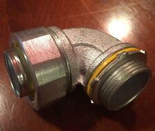 """Cooper Crouse-Hinds LT-12590 Liquidtight Connector, 90º, 1-1/4"""", Non-Insulated"""