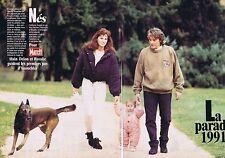 COUPURE DE PRESSE CLIPPING 1992 ALAIN DELON & ROSALIE   (5 pages)