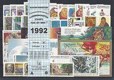 RUSSIA 1992 COMMEMORATIVE YEAR SET MNH