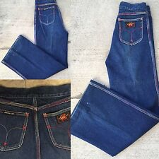 "VTG Union Gap Wide Leg Jeans Colorful Stitching Size 30 27 1/2"" Waist High Waist"
